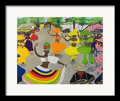 National Carnival In Haiti Framed Prints