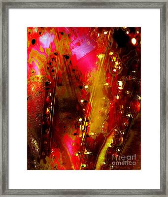 Carnival Lights Framed Print by Doris Wood