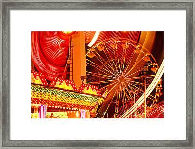 Carnival Lights  Framed Print