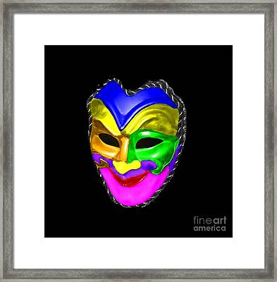 Framed Print featuring the photograph Carnival Mask by Blair Stuart