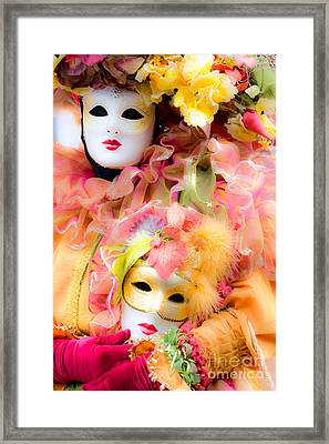 Framed Print featuring the photograph Carnival Mask by Luciano Mortula