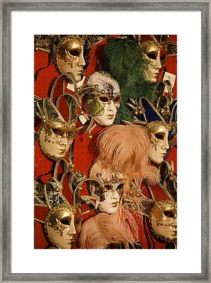Carnival Masks For Sale Framed Print