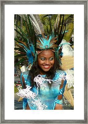 Carnival Moments. Blue Flower Framed Print by Anna  Duyunova