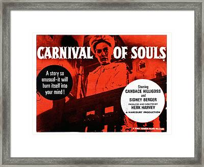 Carnival Of Souls, British Quad Poster Framed Print by Everett