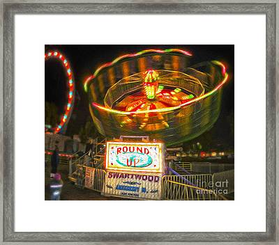 Carnival Ride - The Round Up Framed Print by Gregory Dyer
