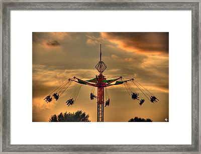 Carnival Ride Framed Print by Nicholas  Grunas