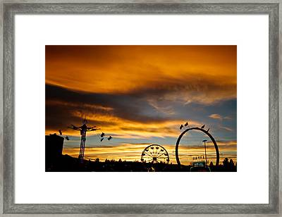 Carnival Sky Framed Print by Mitch Shindelbower