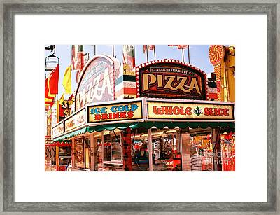 Carnivals Fairs And Festival Art - Pizza Stand  Framed Print by Kathy Fornal