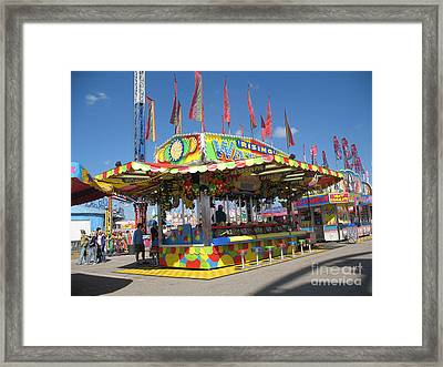 Carnivals Fairs And Festival Art  Framed Print by Kathy Fornal