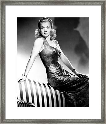 Carole Landis, Publicity Shot, Ca. 1943 Framed Print