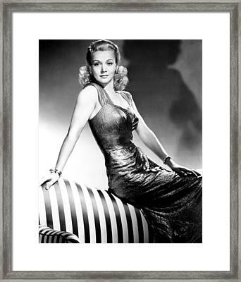 Carole Landis, Publicity Shot, Ca. 1943 Framed Print by Everett