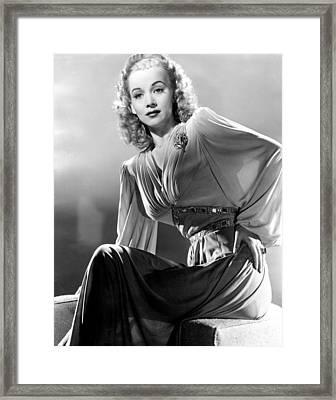 Carole Landis, Publicity Shot, Ca. 1944 Framed Print by Everett