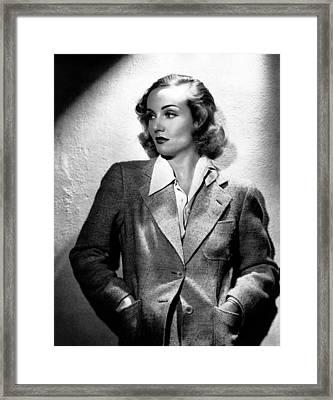 Carole Lombard, Ca. 1930s Framed Print by Everett