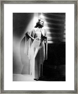 Carole Lombard, Ca. Early 1940s Framed Print by Everett