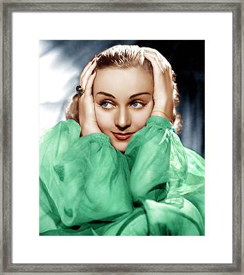 Carole Lombard, Ca. Late 1930s Framed Print by Everett