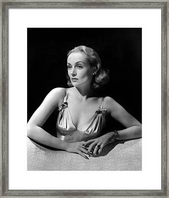 Carole Lombard In Publicity For Vigil Framed Print