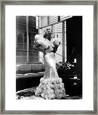 Carole Lombard In The 1930s Framed Print by Everett