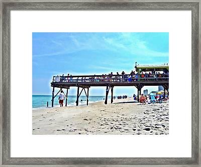 Carolina Beach Tiki Bar Framed Print