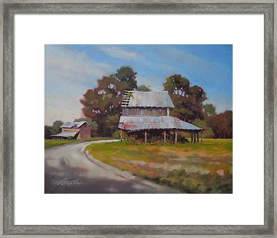 Carolina Dirt Road Framed Print by Todd Baxter