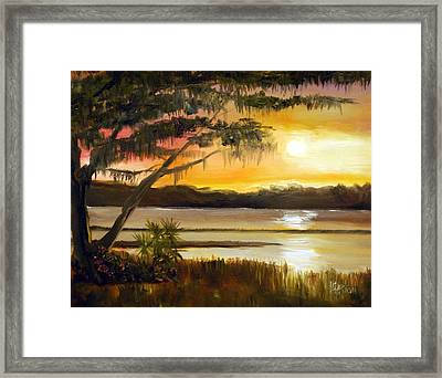 Carolina Sunset Framed Print by Phil Burton