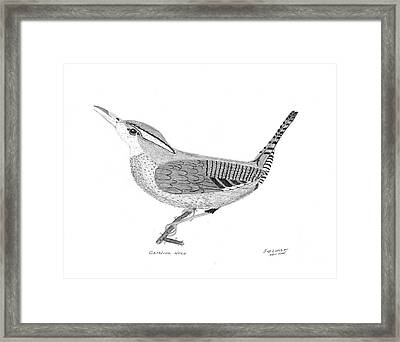 Carolina Wren Framed Print by Bob and Carol Garrison