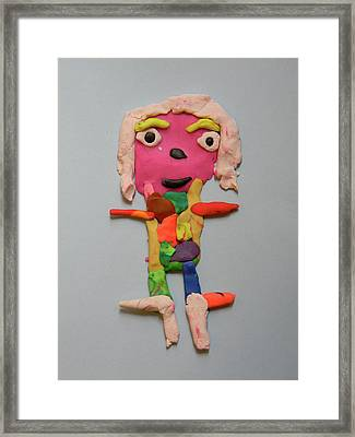 Caroline Framed Print by Marwan George Khoury