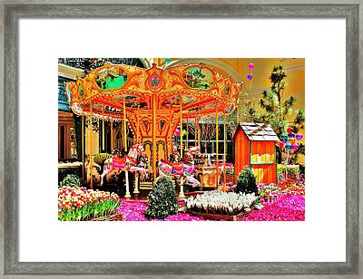 Carousel Framed Print by Benjamin Yeager