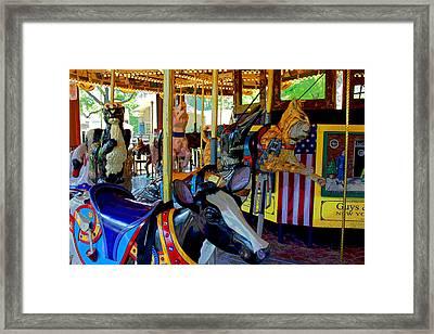 Carousel Fun Framed Print by Bob Whitt