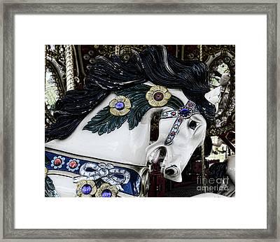 Carousel Horse - 9 Framed Print by Paul Ward
