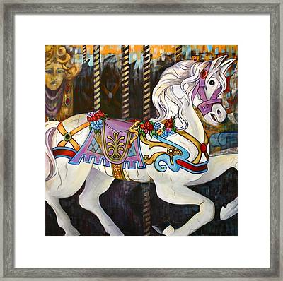 Carousel Horse Hull Massachusetts Framed Print