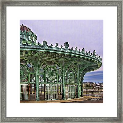 Framed Print featuring the photograph Carousel House by Vicki DeVico