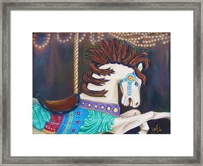 Carousel Framed Print by Jean LeBaron