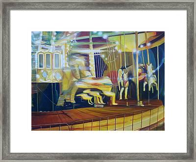 Carousel Framed Print by Leonard Aitken