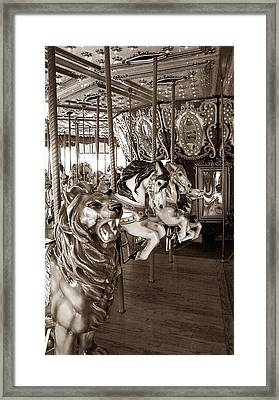 Framed Print featuring the photograph Carousel by Raymond Earley