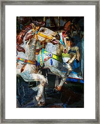 Carousel Thoroughbreds Framed Print