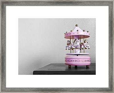 Carousel Toy  Framed Print by Natee Srisuk
