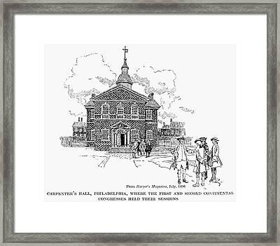 Carpenters Hall Framed Print by Granger
