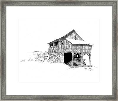 Carriage House Framed Print by Donald Black