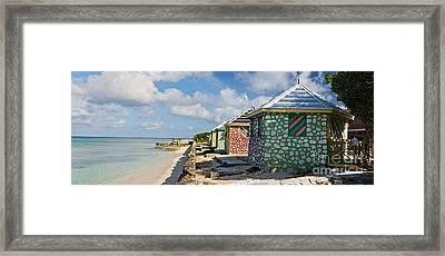 Carribean Style Panorama Framed Print by Jim Chamberlain