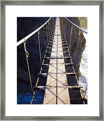 Carrick-a-rede, County Antrim, Ireland Framed Print by The Irish Image Collection