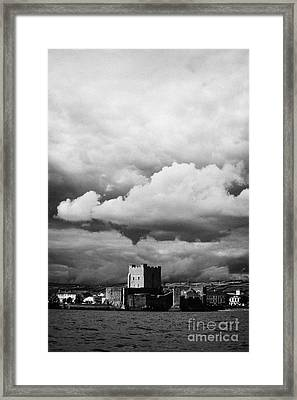 Carrickfergus Castle Under A Stormy Sky County Antrim Northern Ireland Uk Viewed From The Sea Framed Print