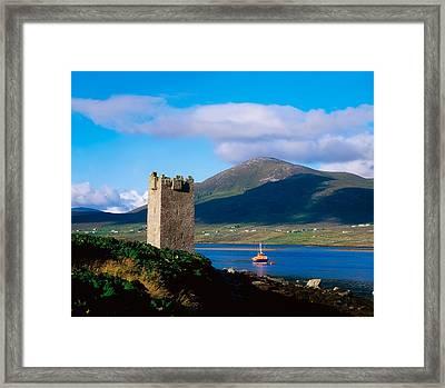 Carrickkildavnet Castle, Achill Island Framed Print by The Irish Image Collection