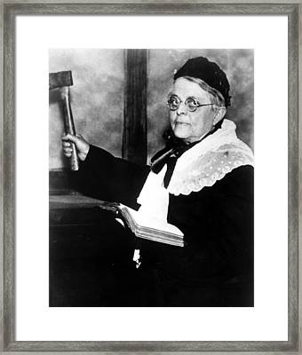 Carrie Nation, Circa 1900 Framed Print by Everett