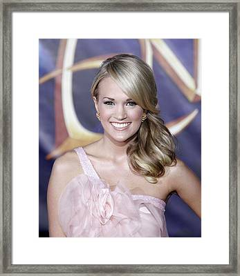 Carrie Underwood At Arrivals Framed Print by Everett