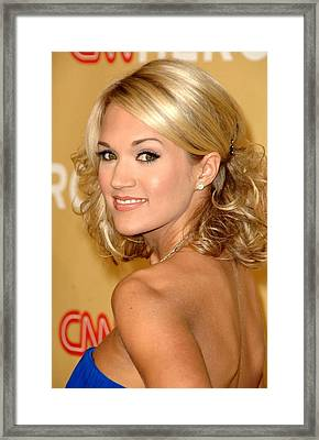Carrie Underwood In Attendance For Cnn Framed Print by Everett