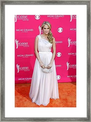 Carrie Underwood Wearing A Randi Rahm Framed Print