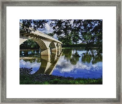 Carrollton Bridge Over The Wabash Framed Print by Jim Finch