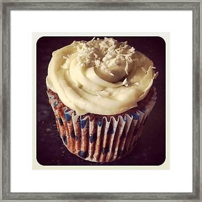 Carrot Cake Cupcake Framed Print