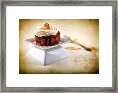 Carrot Cupcake Framed Print