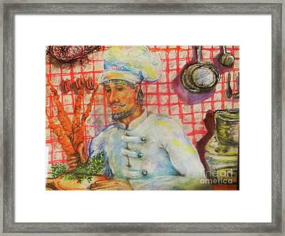 Carrot Soup Chef Framed Print by Emily Michaud